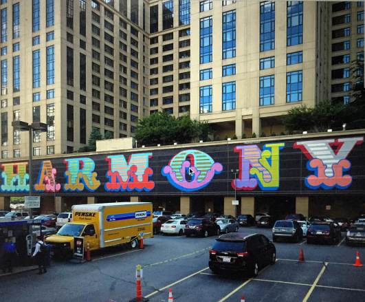 """Ben Eine has been in Chicago this past week to open his show, """"The Great Western"""" with Sickboy and Word To Mother. While in town he's been busy, getting up a giant mural in the city's Wabash Arts Corridor' while also finding time to do a few shutters."""