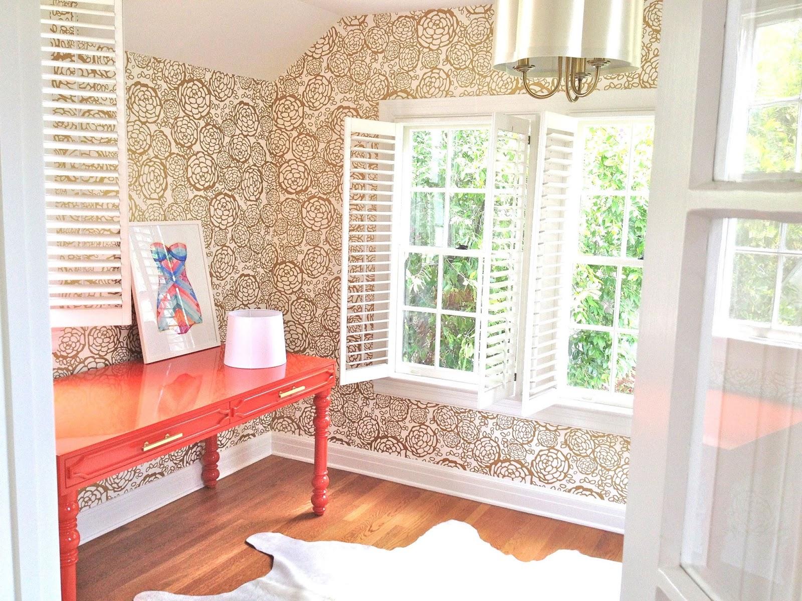 rosa beltran design feminine floral office sneak peek
