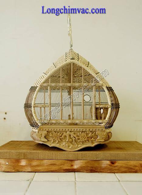 Lồng cu gáy quả đào mặt cắt gỗ dổi đục hoa mai CG031