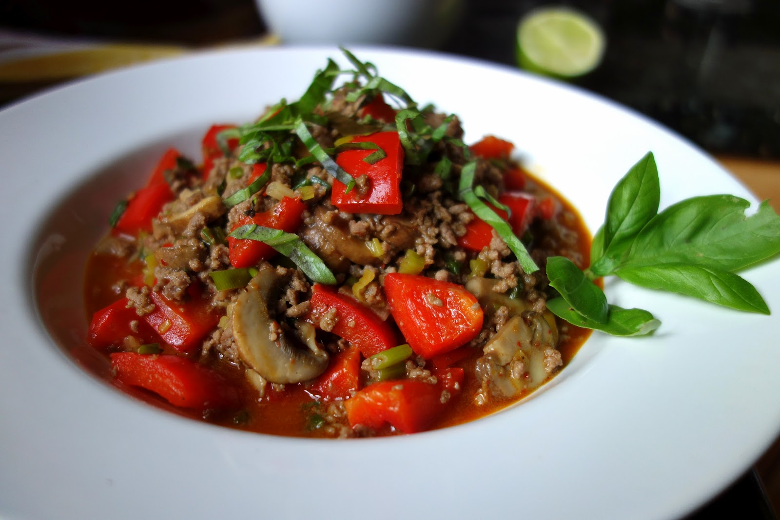 Fresh Local and Best: Thai Red Curry Beef with Mushroom Red Bell ...