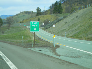 The last exit in California on I-5, exit 796!