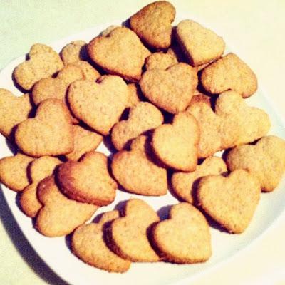 homemade heart graham crackers