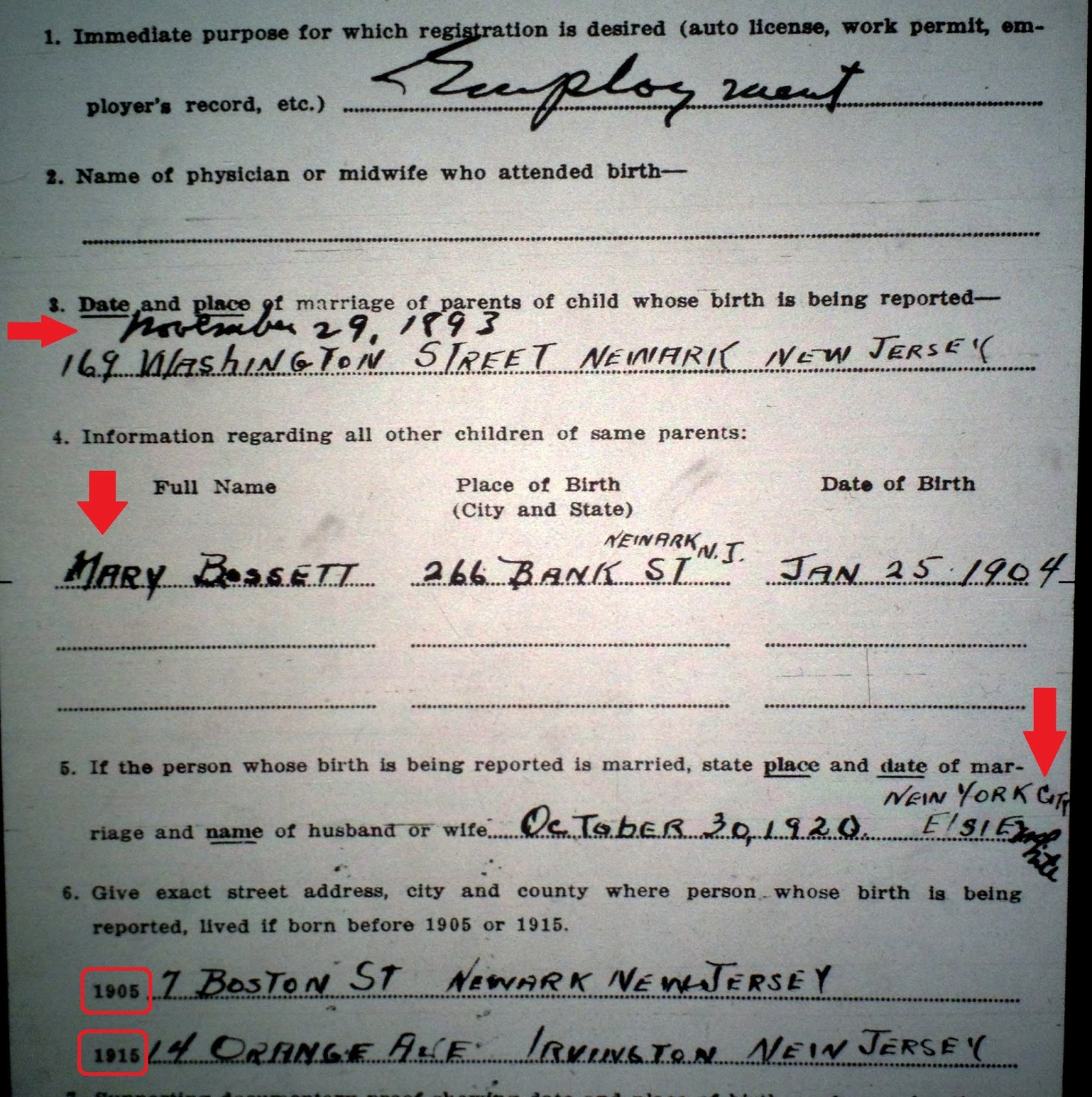 Family history research by jody delayed birth certificates application of henry bossett to issue a delayed birth certificate aiddatafo Images