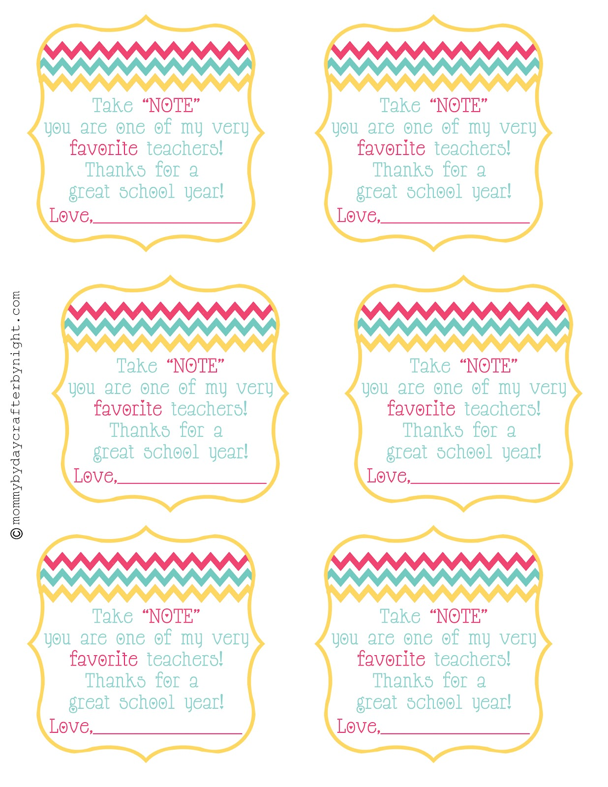 Epic image throughout printable teacher gift tags