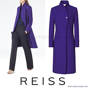 Kate Middleton Style Reiss Emile sharply tailored coat