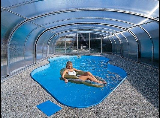 Techo fijo de vidrio para piscina fotos de cubiertas for Techo piscina cubierta