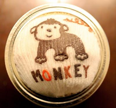 Monkey Pin Cushion Infant Sock