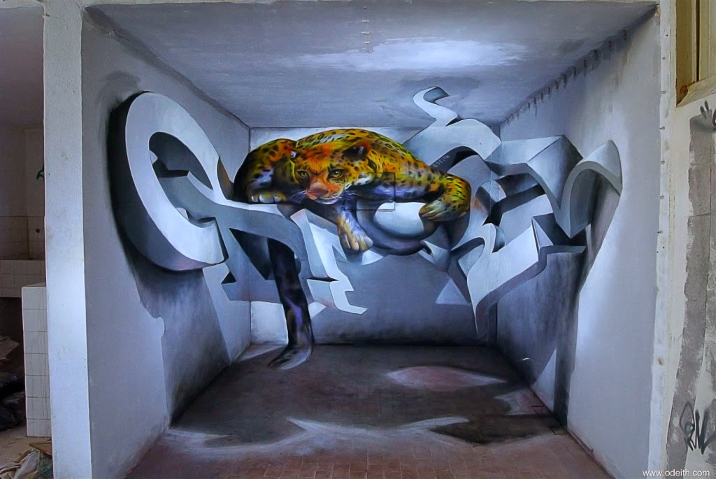 03-5-Walls-Leopard-Standing-Odeith-3D-Anamorphic-Graffiti-Drawings-www-designstack-co
