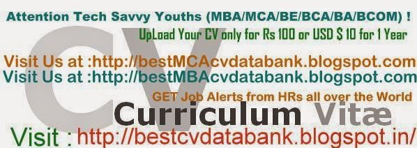 Best MBA CV Data Bank