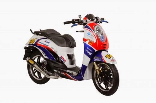 modifikasi motor honda scoopy sporty 2014