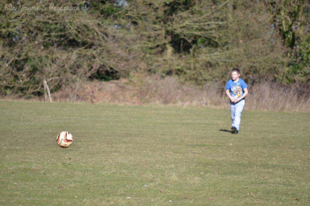 Fun playing football