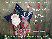 Postcard With Santa Punch Needle Pattern $7.00