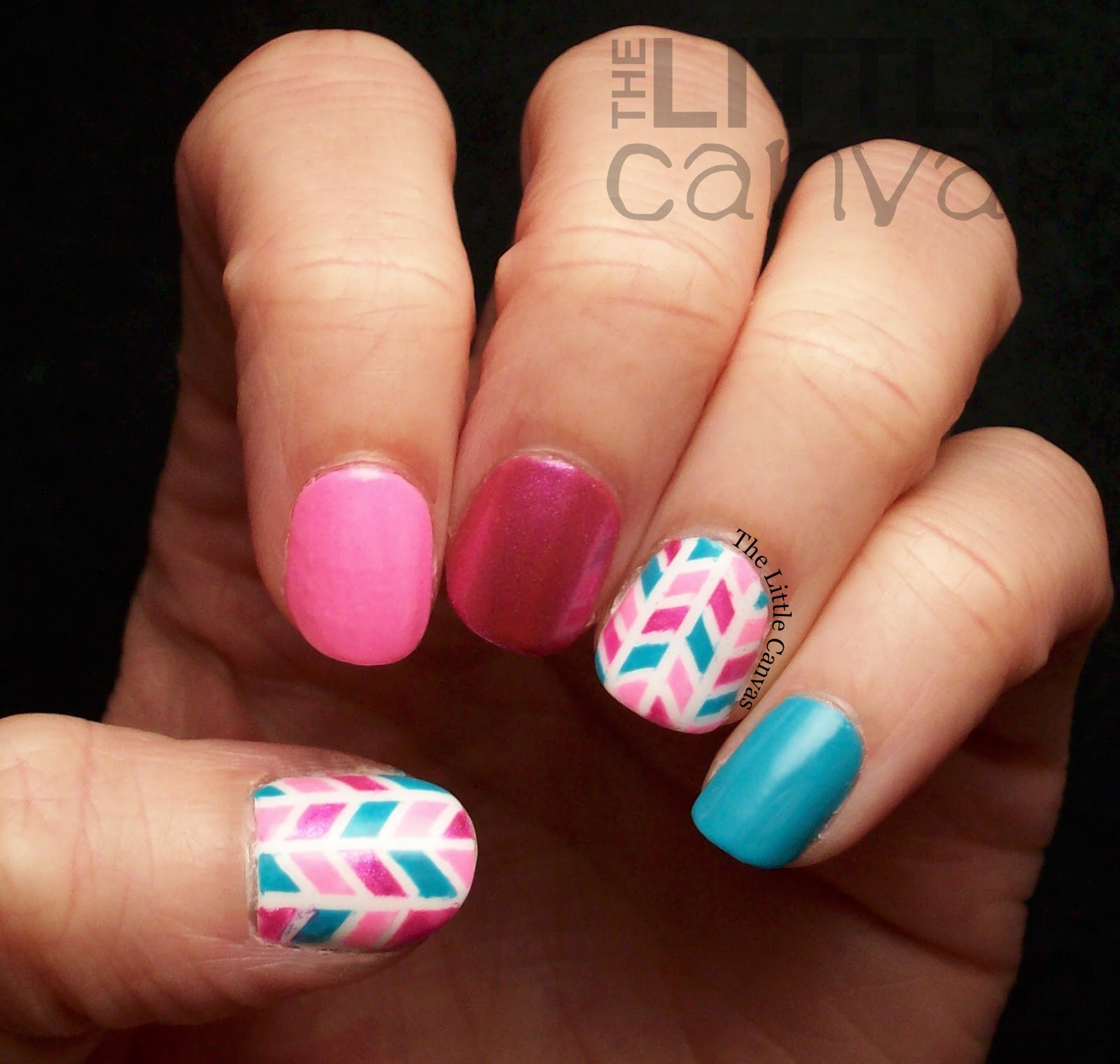 Nail Art Using Painters Tape: Piggy Paint Tape Manicure! And Giveaway!