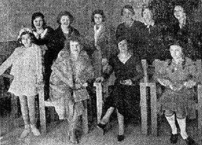 Participantes en el I Campeonato Femenino de Ajedrez Barcelona 1932