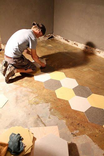 Naifandtastic decoraci n craft hecho a mano - Como poner suelo porcelanico ...