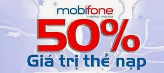 Duy nhất ngày hôm nay tặng 50% thẻ nạp Mobifone