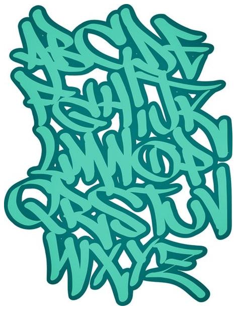 Letras de graffitis en bomba abecedario , Imagui