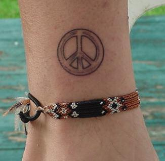 peace tattoos for women