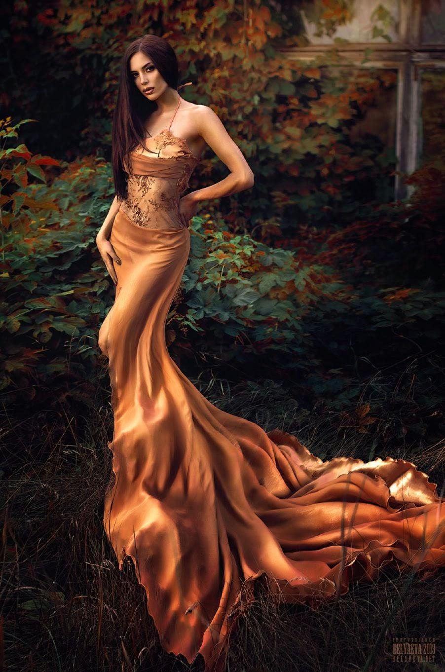 Фото в коричневых платье девушка и парень 11 фотография