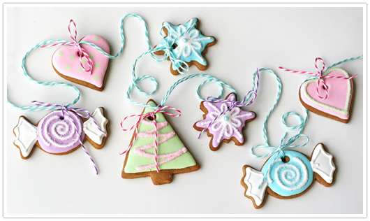 gingerbread cookie garland by glorious treats