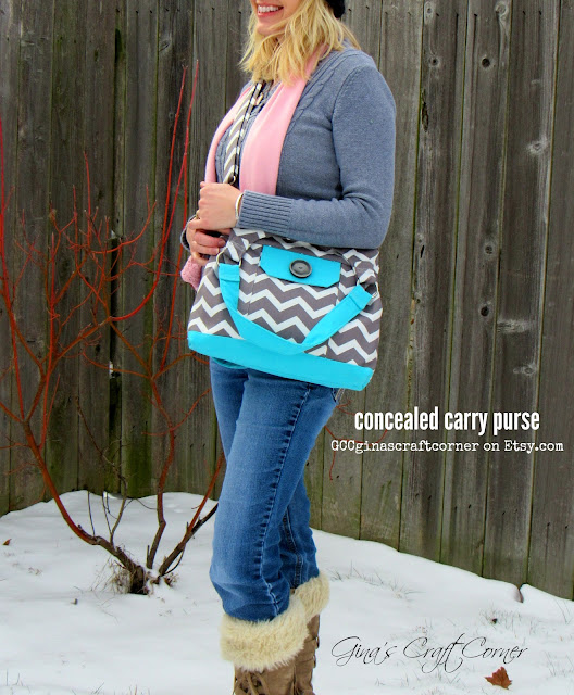 Design your own concealed carry purse at GCC, ginascraftcorner.com
