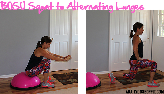 BOSU exercises, BOSU workout, BOSU Strong, Fit Approach, Sweat Pink. FitFluential, Workout