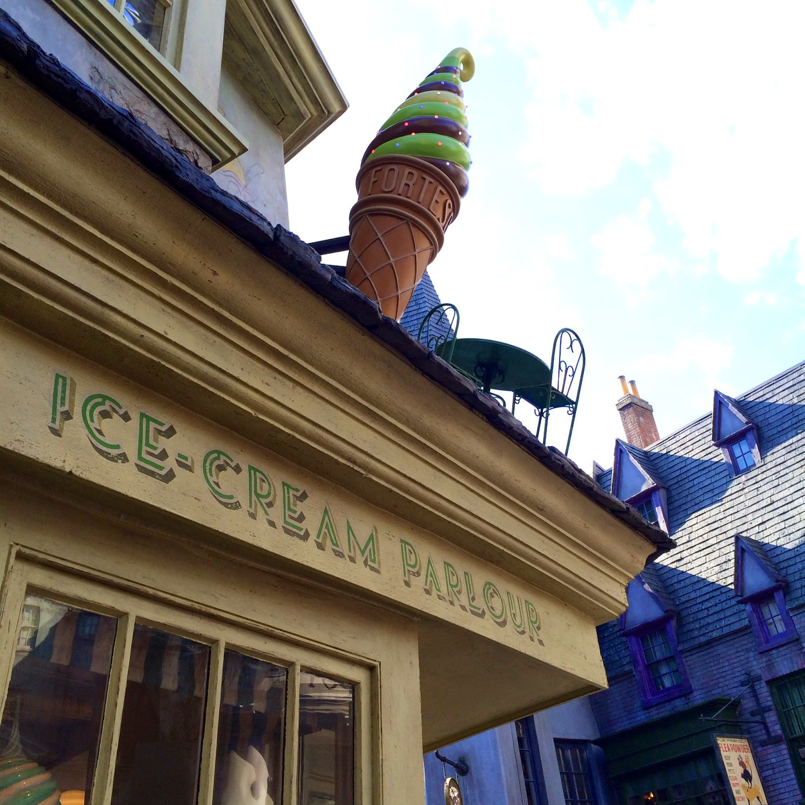 ice cream parlour harry potter world