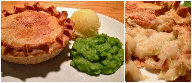 Pie and Ale, Manchester - three cheese, leek and potato
