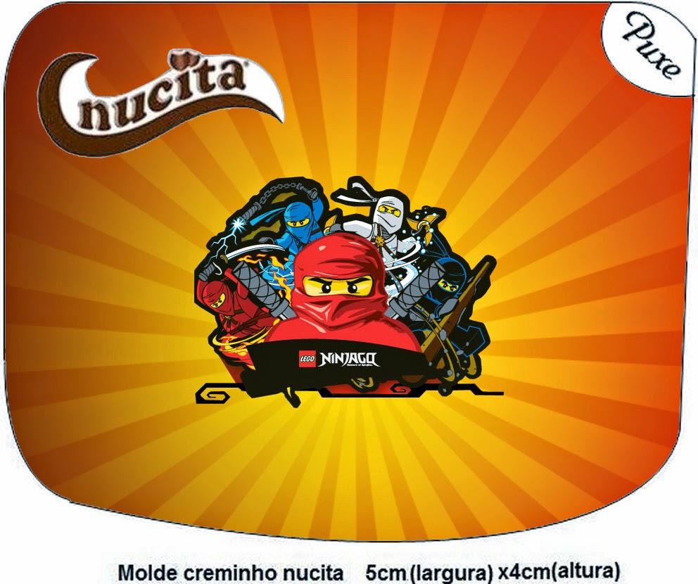 Etiquetas Nucita de Ninjago para imprimir gratis.