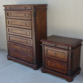 Tall Boy Dresser & Night Stand (SOLD)