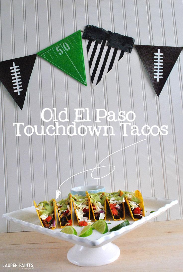 Old El Paso Touchdown Tacos: Vegetarian Black Bean & Quinoa Tacos with Guacamole Sauce