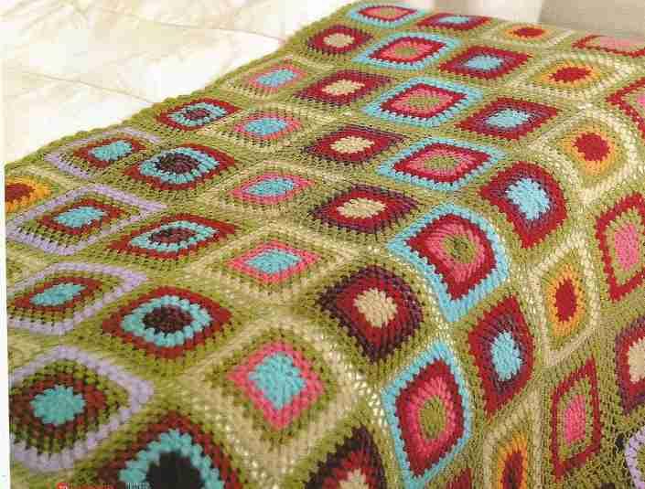 Colcha Full Color a Crochet