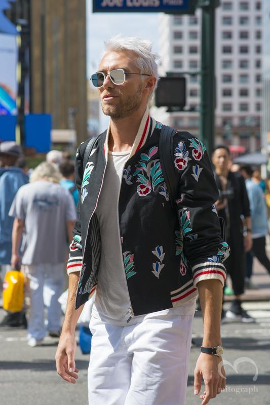 Matthew Foley wears Thom Browne at New York Fashion Week 2016 Spring Summer NYFW