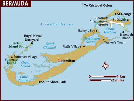 Bermuda Island Map Not Labeled