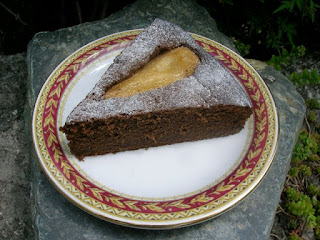 Gluten free carob, pear honey cake