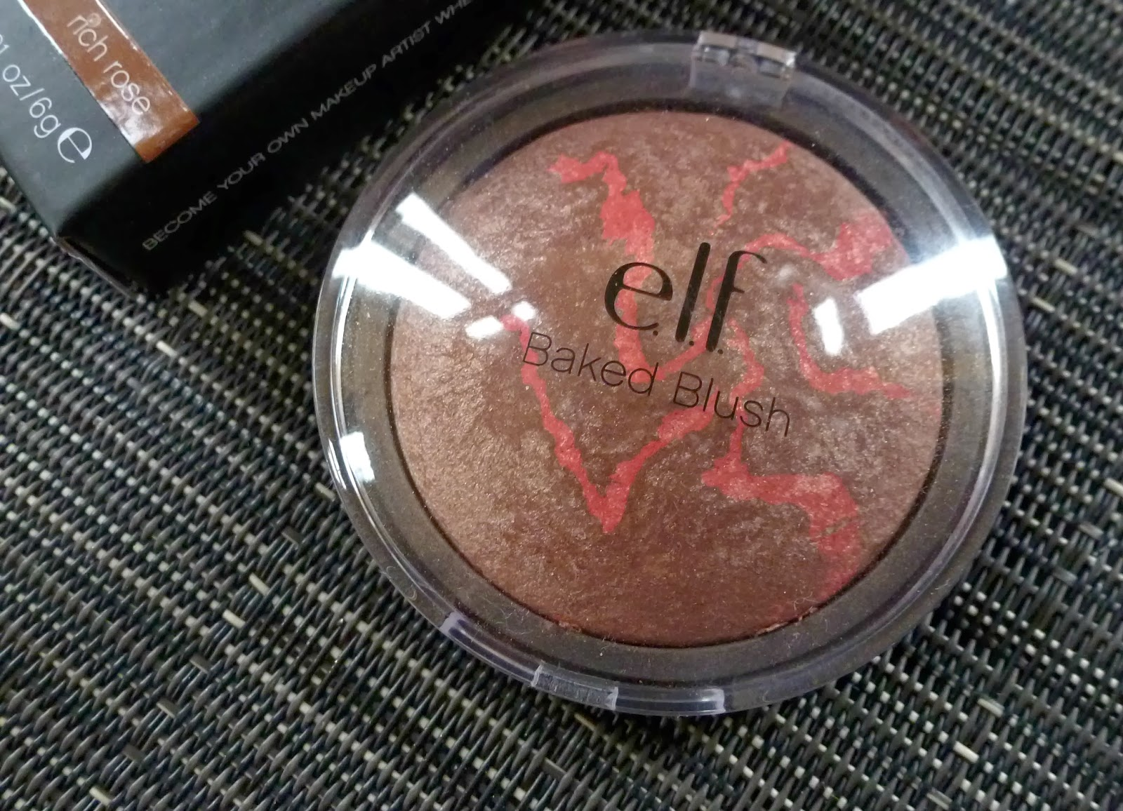 A picture of Elf Baked Blush in Rich Rose