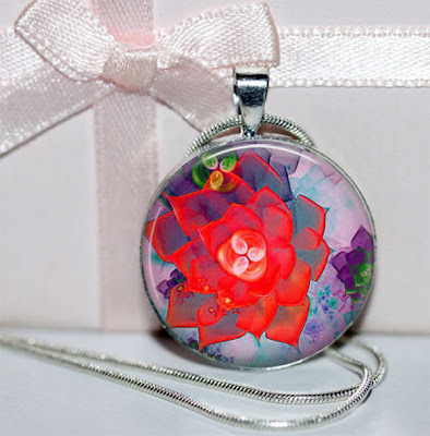 Digital Photo Template for Round Pendant
