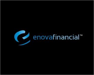 11. Enova Financial (Black) Logo