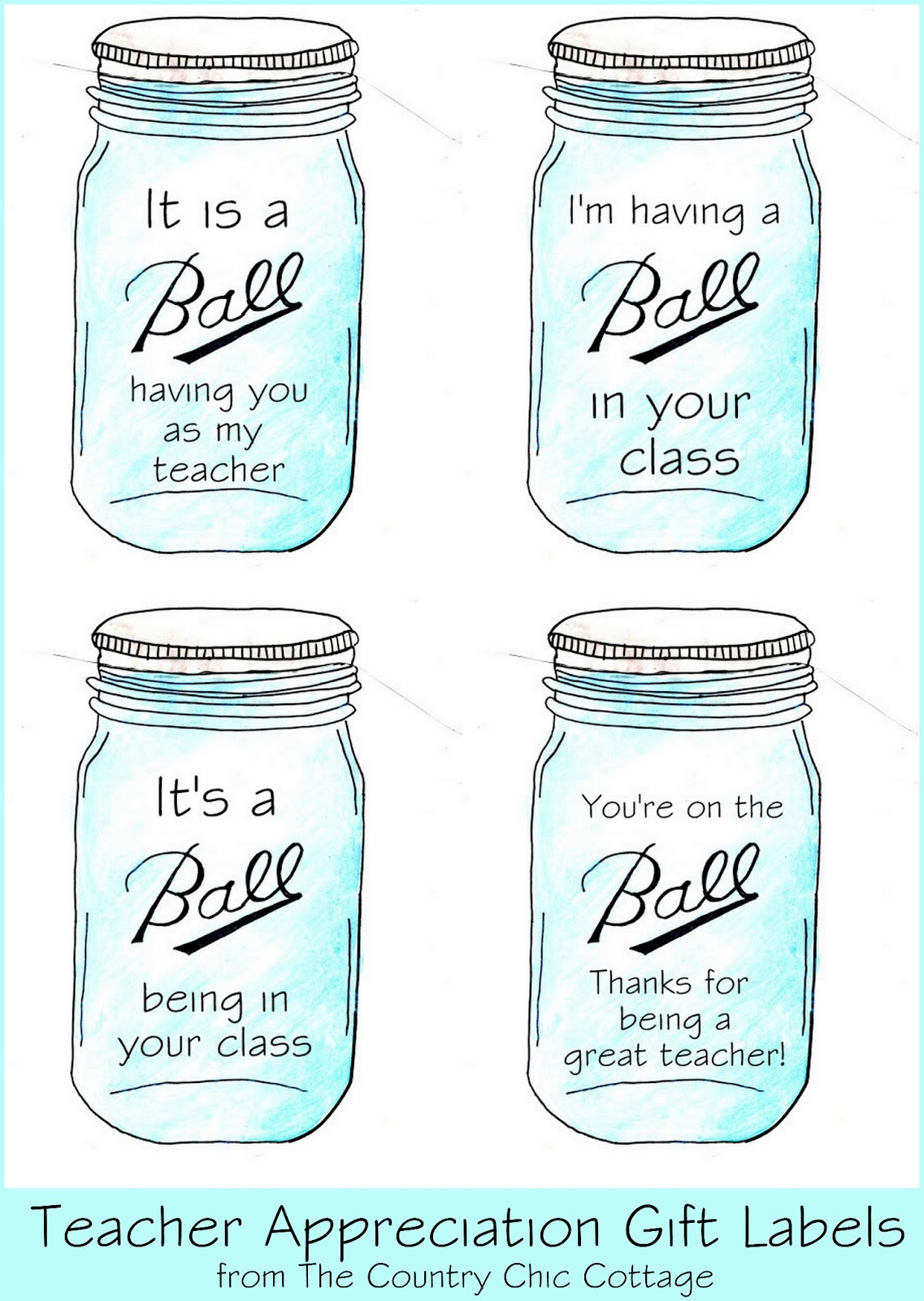... add your gifts to your jars and print the labels below. Click on