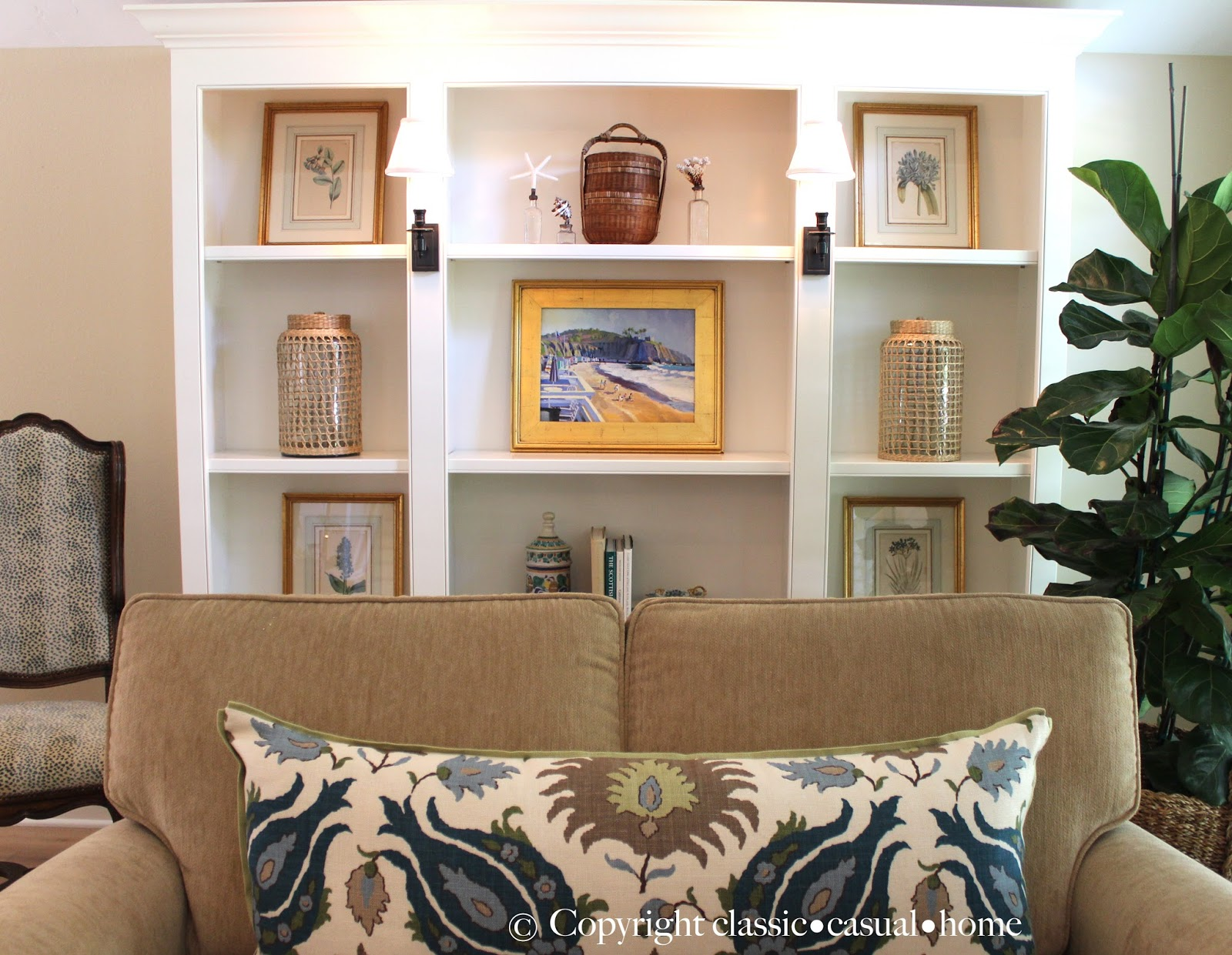 Beach Living Room Décor Before and After - Classic Casual Home