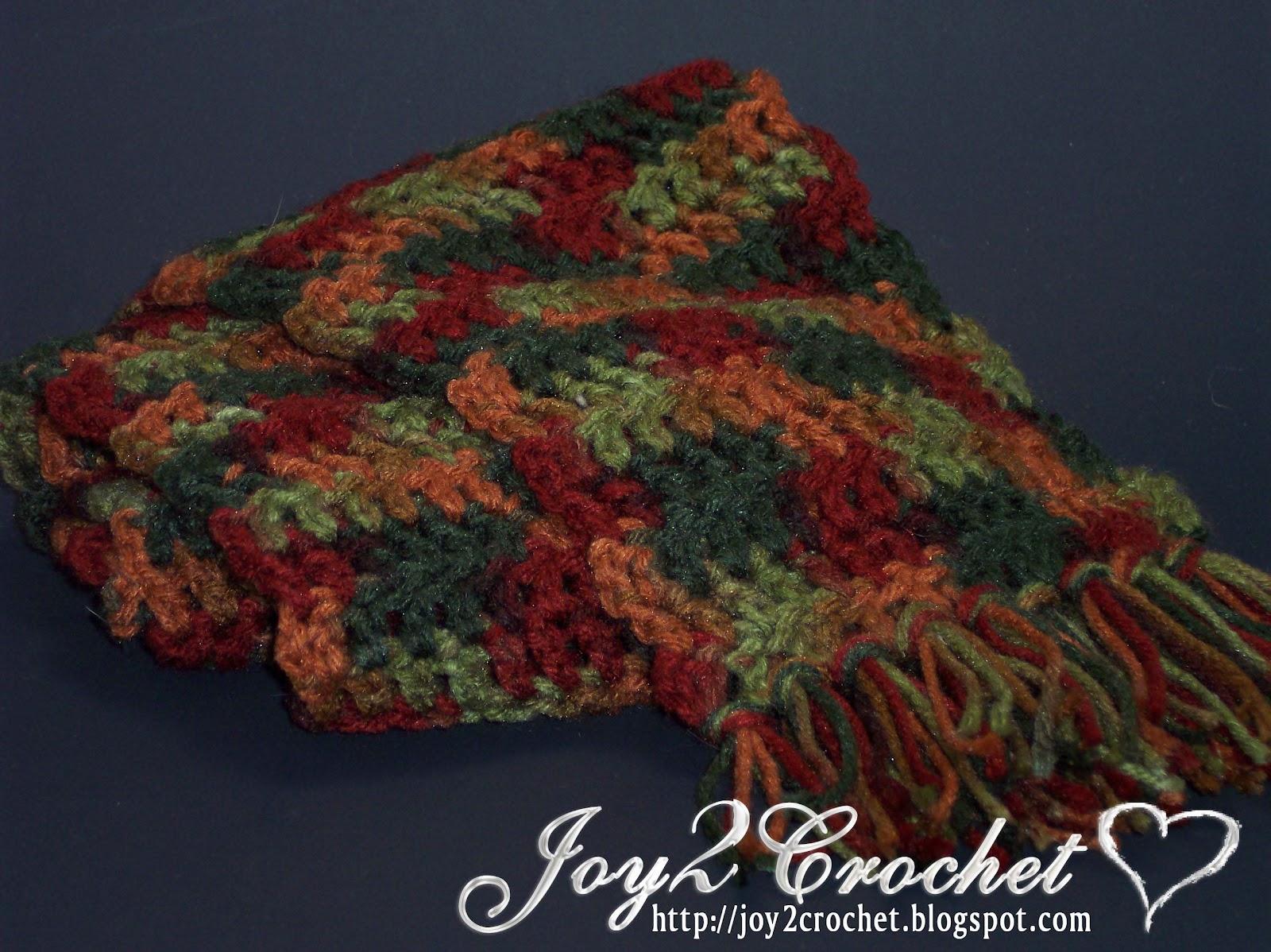 Joy 2 Crochet: One Day, One Skein Scarfs