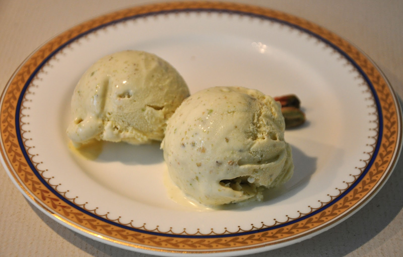 Roasted Pistachio Ice Cream with Cream Cheese | The Baking Bee
