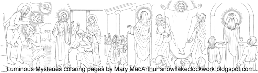 luminous mysteries coloring pages - photo#26