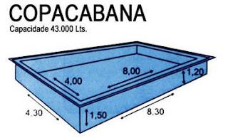 Modelo de piscina enorme feita em fibra
