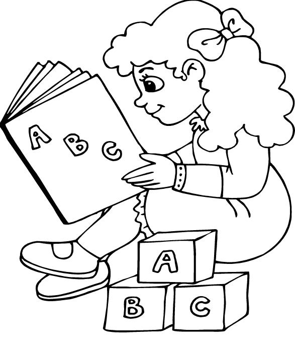 Ba da web desenhos dia do livro para colorir e imprimir for Kids reading books coloring pages