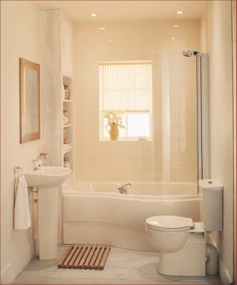 Decore sweet home how to decorate small bathroom look bigger for Small bathroom looks