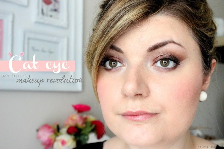 Un Cat Eye cuivré avec la palette Flawless de Makeup Revolution