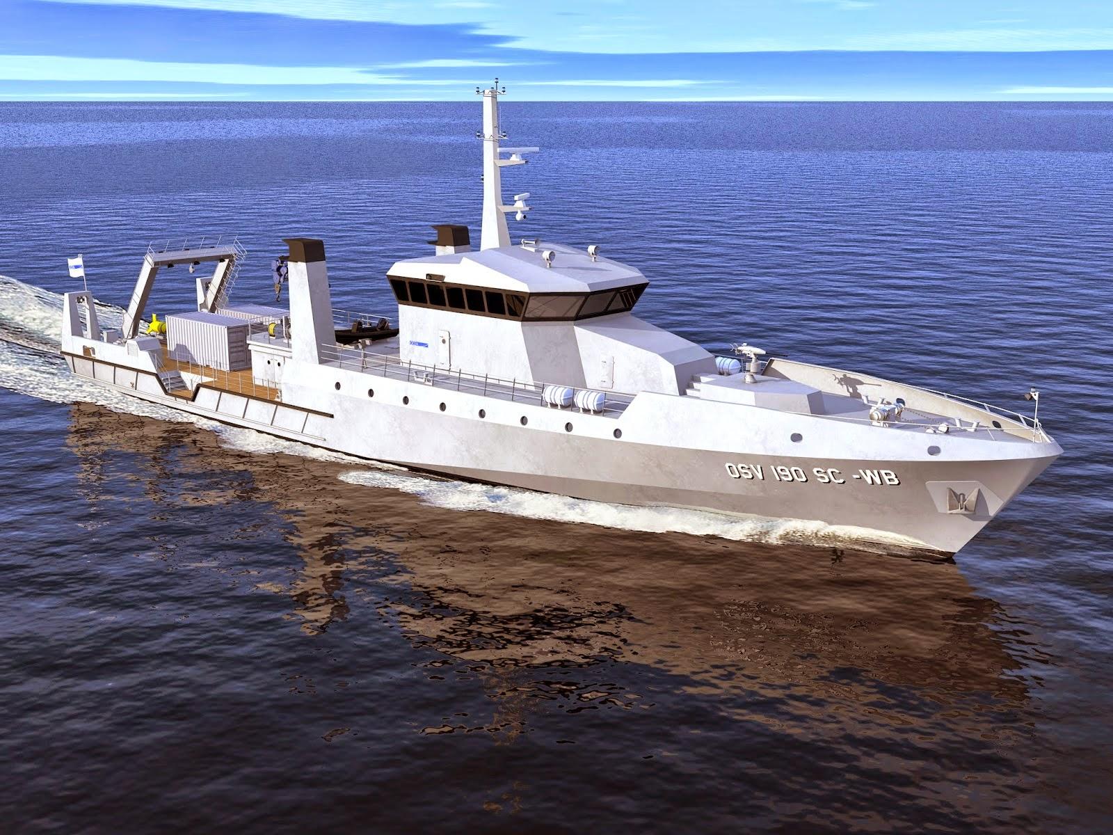 Kapal Hidro Oseanografi OCEA OSV190 SC