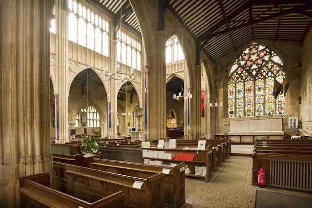 Beautiful interior of ST Mary the Virgin church at Chipping Norton by Martyn Ferry Photography