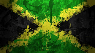 Jamaica Flag Paint Drawn HD Wallpaper